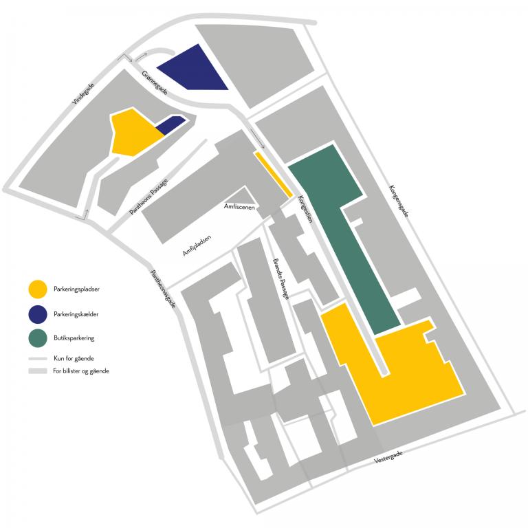 Parkeringskort over Brandts Klædefabrik